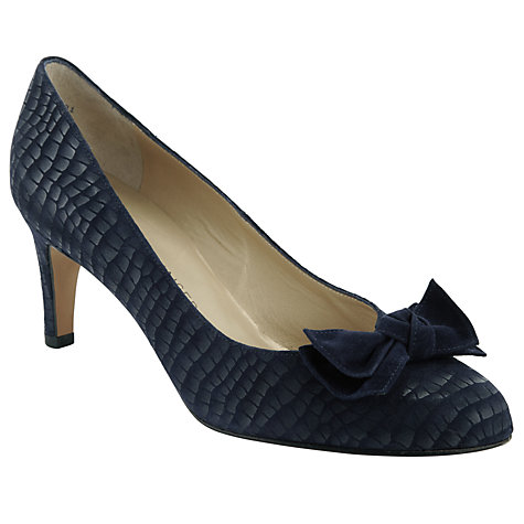 Buy Peter Kaiser Baska Bow Detail Suede Court Shoes Online at johnlewis.com