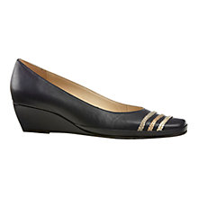 Buy Van Dal Brisbane Leather Toe Plaited Detail Pumps Online at johnlewis.com