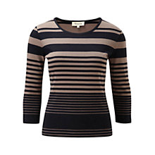 Buy Viyella Rib Stripe Top, Multi Online at johnlewis.com