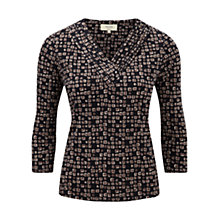 Buy Viyella Petite Geo Print Top, Navy Online at johnlewis.com