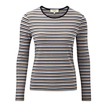 Buy Viyella Petite Stripe Crew Neck Top, Multi Online at johnlewis.com