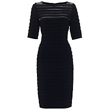 Buy Adrianna Papell Partial Tuck Dress, Black Online at johnlewis.com