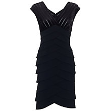 Buy Adrianna Papell Shutter Pleat Dress, Black Online at johnlewis.com