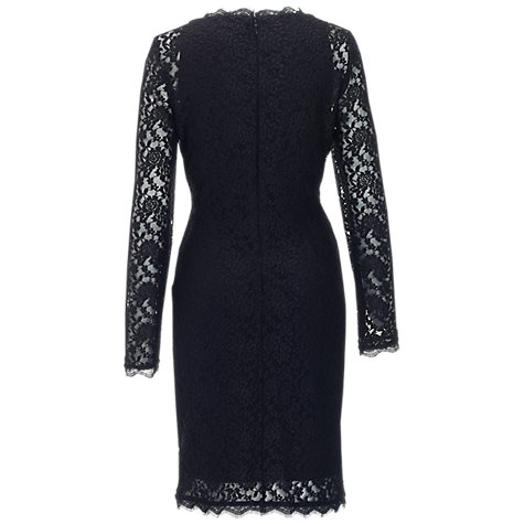 Buy Adrianna Papell Stretch Lace Dress, Black Online at johnlewis.com