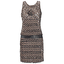 Buy Adrianna Papell Pave Beaded Dress, Putty Online at johnlewis.com