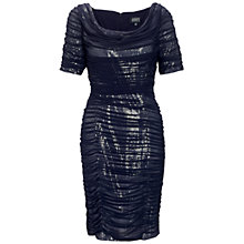 Buy Adrianna Papell Veiled Sequin Dress, Ink Online at johnlewis.com