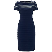 Buy Adrianna Papell Partial Tuck Dress, Eclipse Online at johnlewis.com