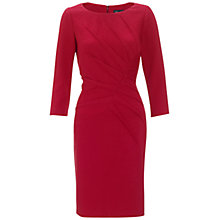 Buy Adriana Papell Tucked Detail Dress, Red Online at johnlewis.com