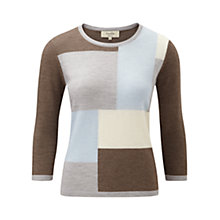 Buy Viyella Petite Colour Block Jumper, Multi Online at johnlewis.com
