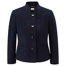 Buy Viyella Petite Teddy Jacket, Navy Online at johnlewis.com