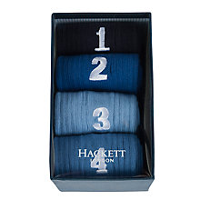 Buy Hackett London Number Socks, Pack of 4 Online at johnlewis.com