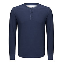 Buy Levi's Waffle Henley Button T-Shirt Online at johnlewis.com