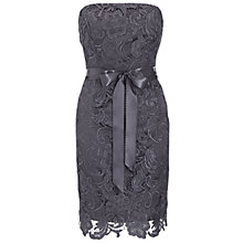 Buy Adrianna Papell Lace Sheath Dress, Charcoal Online at johnlewis.com