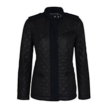 Buy French Connection Dash Fitted Quilted Collar Jacket, Black Online at johnlewis.com