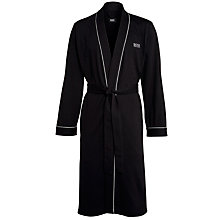 Buy BOSS Cotton Robe, Black Online at johnlewis.com