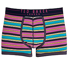 Buy Ted Baker Dospo Stripe Trunks, Purple Online at johnlewis.com