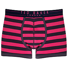 Buy Ted Baker Greeble Moulded Trunks, Navy/pink Online at johnlewis.com