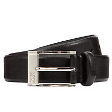 Buy BOSS Ellot Leather Belt, Black Online at johnlewis.com