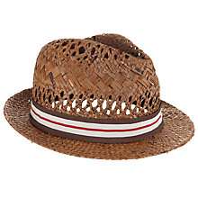 Buy Ted Baker Straw Chapps Hat, Natural Online at johnlewis.com