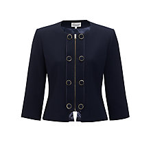 Buy Somerset by Alice Temperley Button Detail Jacket, Navy Online at johnlewis.com