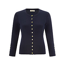 Buy Somerset by Alice Temperley Button Detail Cardigan, Navy Online at johnlewis.com