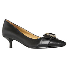 Buy Nine West Rula Leather Buckle Trim Kitten Heel Court Shoes Online at johnlewis.com