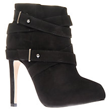 Buy Carvela Stop Suede Wraparound Strap Ankle Boots, Black Online at johnlewis.com