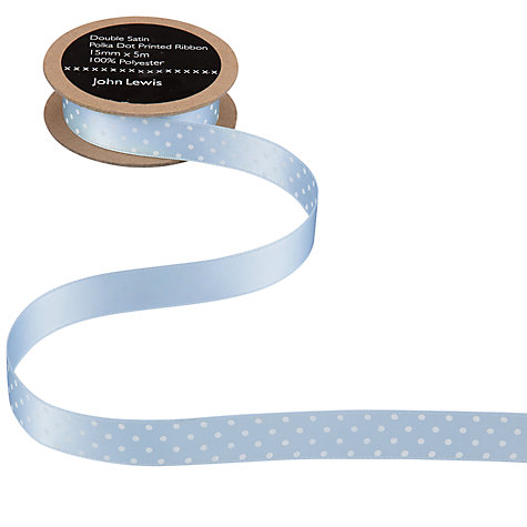 Buy John Lewis Double Satin Polka Dot Ribbon Online at johnlewis.com