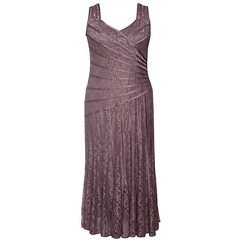 Buy Chesca Stripy Lace Occasion Dress, Cappuccino Online at johnlewis.com