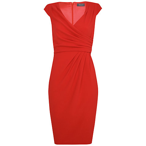 Buy Alexon Crepe Dress, Orange Online at johnlewis.com