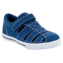 Buy John Lewis Boy Tyler Fisherman Canvas Trainers, Blue Online at johnlewis.com