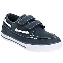 Buy John Lewis Boy Finley Boat Shoe, Navy Online at johnlewis.com