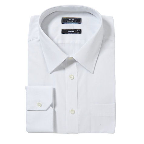Buy John Lewis XS Sleeves Pima Cotton Single Cuff Shirt, White Online at johnlewis.com