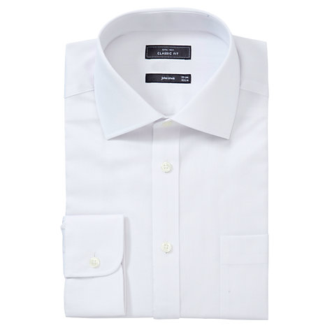 Buy John Lewis Non Iron Twill Classic Fit XL Sleeve Shirt, White Online at johnlewis.com
