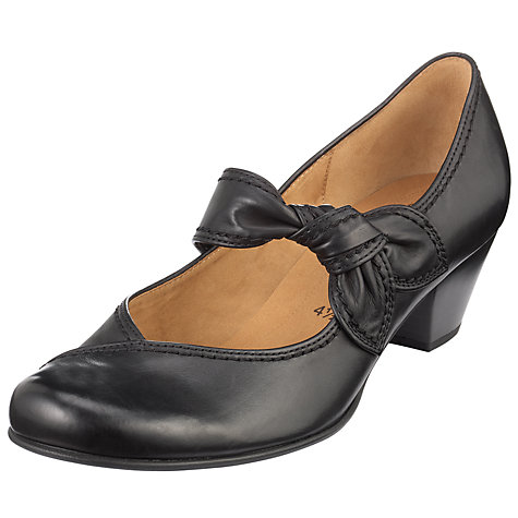 Buy Gabor Henrietta Knot Strap Leather Mary Jane Shoes Online at johnlewis.com