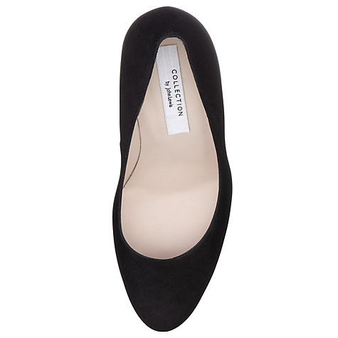 Buy COLLECTION by John Lewis Weisz Suede Platform Court Shoes, Black Online at johnlewis.com