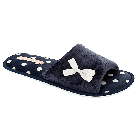 Buy John Lewis Galaxy Spot Print Flat Slippers Online at johnlewis.com