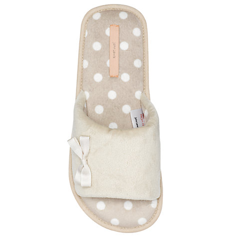 Buy John Lewis Galaxy Spot Print Flat Slippers, Beige Online at johnlewis.com