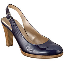 Buy Gabor Cedarwood Sling Back Court Shoes, Navy Online at johnlewis.com