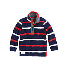 Buy Little Joule Woozle Striped Fleece, Navy/Red/White Online at johnlewis.com
