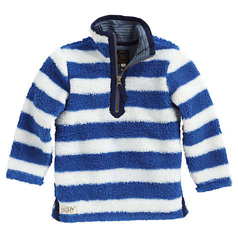Buy Little Joule Striped Woozle Fleece, Blue/White Online at johnlewis.com
