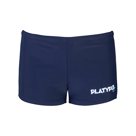 Buy Platypus Boys' Over-Knee Swim Shorts, Blue Online at johnlewis.com