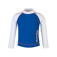 Buy Platypus Long Sleeved Rash Vest, Blue/White Online at johnlewis.com