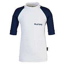 Buy Platypus Short Sleeved Rash Vest, White/Blue Online at johnlewis.com