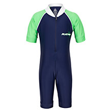 Buy Platypus Short Sleeved Sunsuit, Blue/Green Online at johnlewis.com