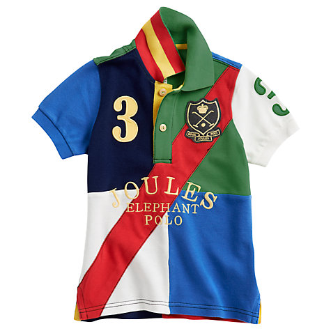 Buy Little Joule Elephant Polo Shirt, Multi Online at johnlewis.com
