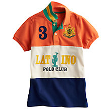 Buy Little Joule Latino Polo Club Polo Shirt, Multi Online at johnlewis.com