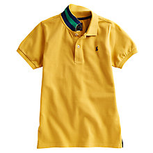 Buy Little Joule Woody Polo Shirt, Yellow Online at johnlewis.com