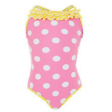 Buy John Lewis Girl Spotted Swimming Costume Online at johnlewis.com