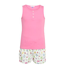 Buy John Lewis Girl Birds Shortie Pyjamas, Pink/Multi Online at johnlewis.com